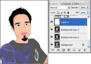tutorial photoshop trace efek kartun 16